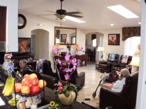 Comfortable living room seating for all assisted living residents