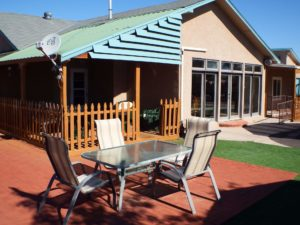 Rio Rancho assisted living backyard in a home-like environment