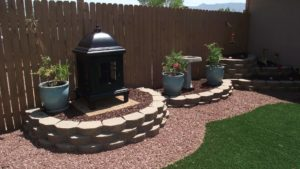Assisted Living in Rio Rancho with landscaped backyards